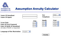 Assumption annuity calculator