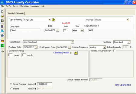 bmo insurance annuity calculator calculate your annuity income