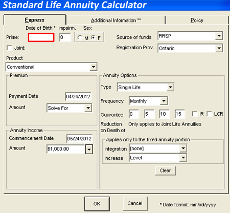 standard life annuity calculator calculate your annuity quote