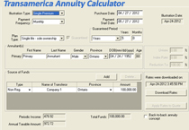 screenshot transamerica annuity calculator