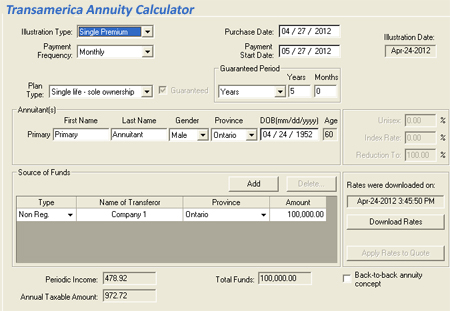 transamerica annuity calculator calculate your annuity quote using