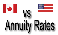canadian vs american annuity rates