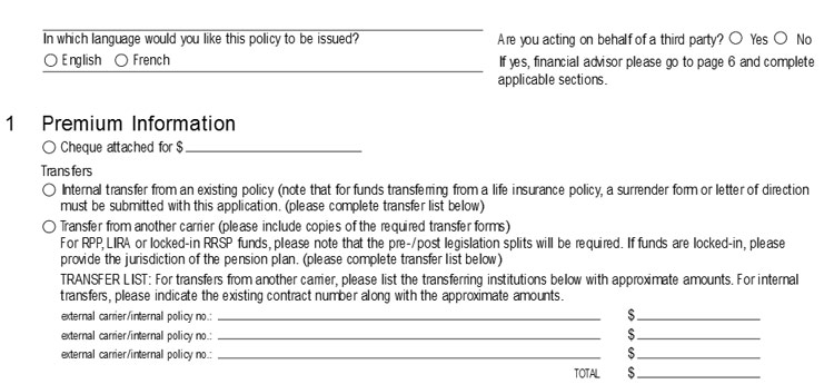 canada life annuity application