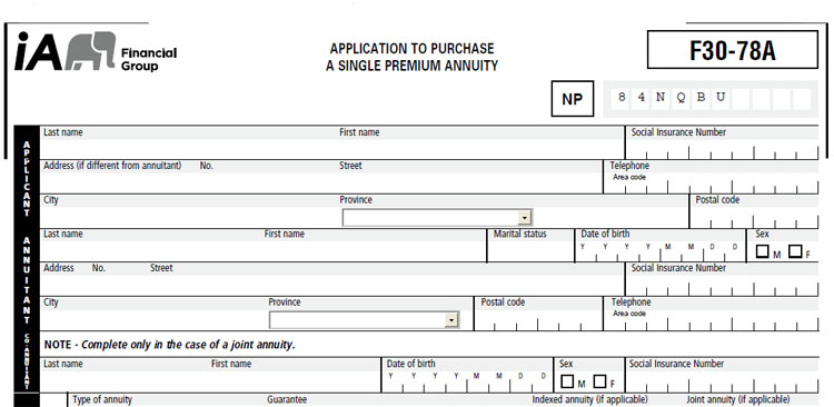 industrial alliance annuity application
