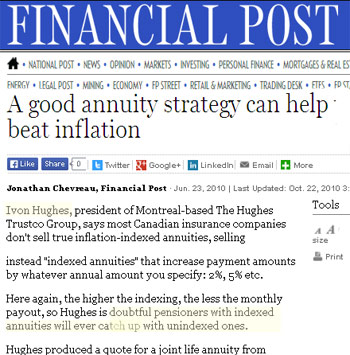 Good Annuity Strategy Beat Inflation