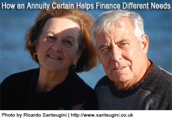 how an annuity certain helps fiance different needs