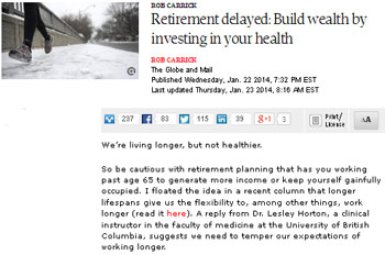 rob-carrick-retirement-delayed-build-wealth-by-investing-in-your-health