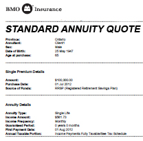 standard annuity quote