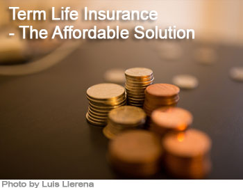 Term Life Insurance – The Affordable Solution