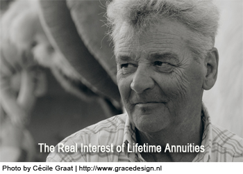The Real Interest of Lifetime Annuities