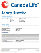 canada life annuity illustration