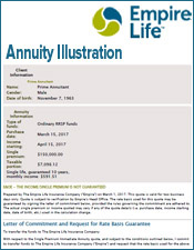 empire life annuity illustration