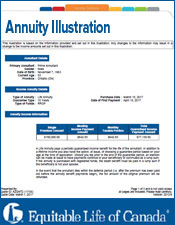 Equitable Annuity Illustration