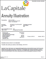la capitale annuity illustration
