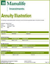 Manulife Annuity Illustration