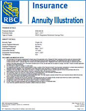 RBC Annuity Illustration