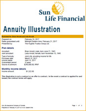 Sun Life Annuity Illustration