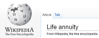 Wikipedia - Life Annuity